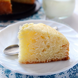 Eggless Butterless Sponge Cake Recipe