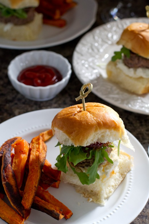 Fall Sliders with Arugula Goat Cheese and Cranberry Pepper Jelly Recipe