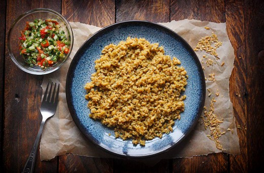 Freekeh with Tabbouleh