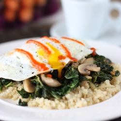 Fried Egg over Kale