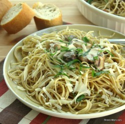 Garlic Parmesan and Mushroom Whole Wheat Pasta Recipe