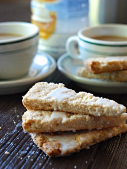 Glazed Cinnamon Shortbread Cookies