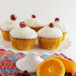 Glazed Cranberry Orange Muffins Recipe