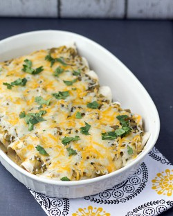 Green Sauce Chicken Enchiladas