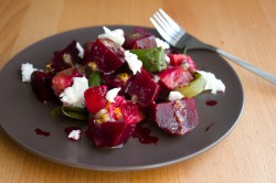 Grilled Beets and Peaches