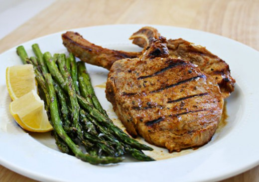 Grilled Pork Chops with Honey-Jalapeno Marinade Recipe