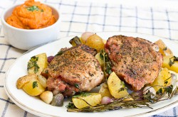 Herb Roasted Turkey Thighs for Two Recipe