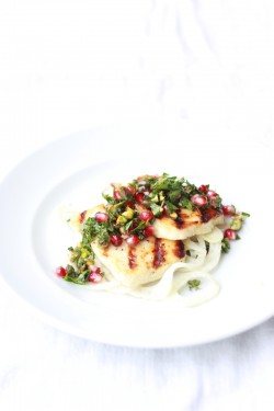 Honey and Thyme Marinated Halloumi with Pickled Fennel Recipe