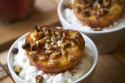 Honey Walnut Broiled Peaches