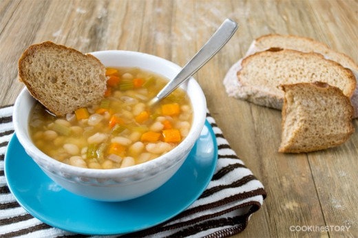 Italian Bean Soup Vegetarian Recipe