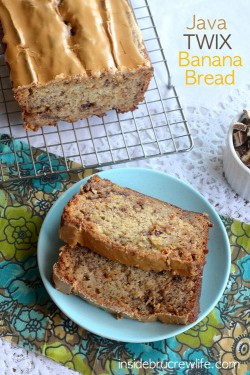 Java Twix Candy Bar Banana Bread Recipe