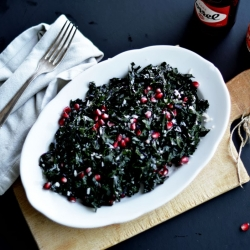 Kale Salad with Pomegranate and Pecorino Recipe