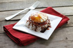 Korean Ham and Eggs with Chile Maple Sauce Recipe
