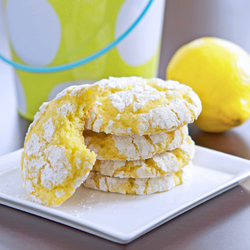Lemon Coconut Crackle Cookies