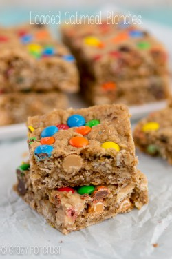 Loaded Oatmeal Blondies
