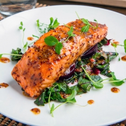 Maple-Miso Dijon Salmon Recipe