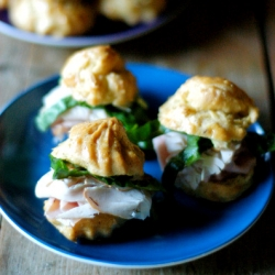 Mini Gougeres Lunch Box Sandwiches