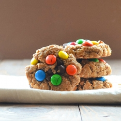 Monster Peanut Butter Oatmeal MM Chocolate Chip Cookies Recipe