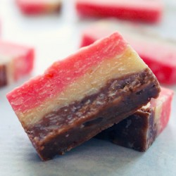 Neapolitan Coconut Sundae Candies