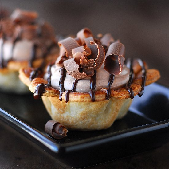 Nutella and Chocolate Pies