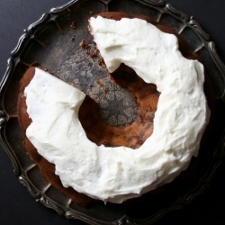Nutella Swirl Bundt Cake with Cream Cheese Frosting Recipe