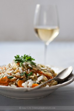 Orzo and Carrot Salad