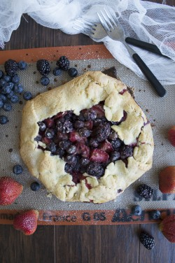 Out of the Pan Triple Berry Pie