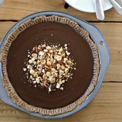Paleo Chocolate Pudding Pie