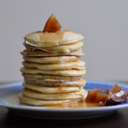 Pancakes with Plum Sauce