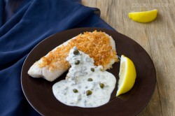 Parmesan Crusted Tilapia with Creme Fraiche Tartar Cream Sauce Recipe