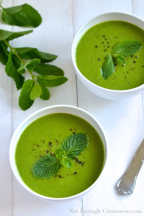 Pea and Mint Soup {Cold or Warm}