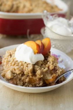 Peach Cobbler Breakfast Casserole