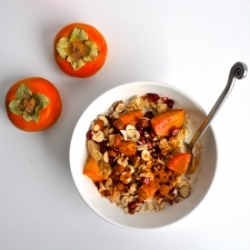 Persimmon Pomegranate and Hazelnut Overnight Oats Recipe