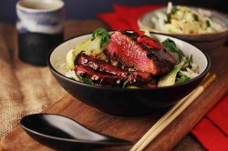 Plum Teriyaki Glazed Venison Recipe