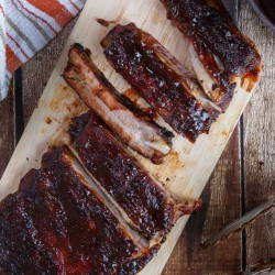 Pomegranate Chipotle BBQ Ribs