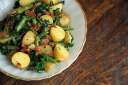 Potato Salad with Kale and Beans