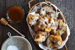 Pumpkin Birmuelos with Caramel Drizzle Recipe