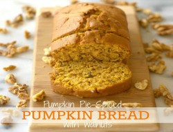 Pumpkin Pie Spiced Pumpkin Bread with Walnuts Recipe