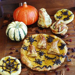 Pumpkin pie with stuffed crust