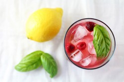 Raspberry Basil Vodka Lemonade