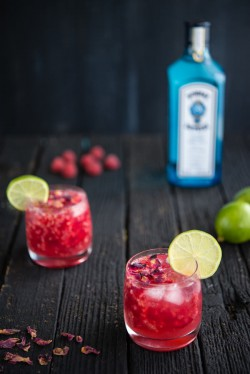 Raspberry Rose Gin and Tonic Recipe