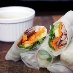 Roasted Duck Spring Rolls Recipe
