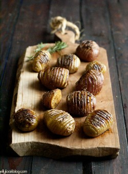 roasted rosemary accordion potatoes