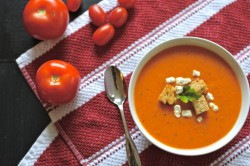 Roasted Tomato Bisque Goat Cheese