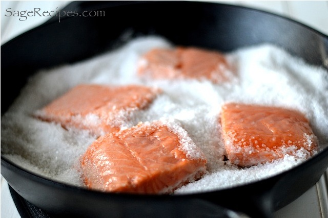 Salt Roasted Salmon