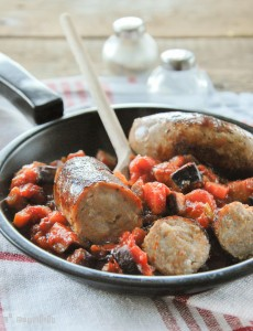 Sausage with Caponata