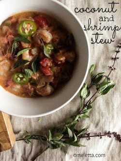 Shrimp and Coconut Stew with Thai Basil Rice Recipe