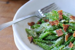 Snaps Peas Parmesan Bacon Salad Recipe
