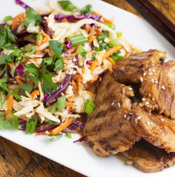 Spicy Korean Pork and Asian Slaw