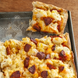 Spicy Potato Pizza Recipe
